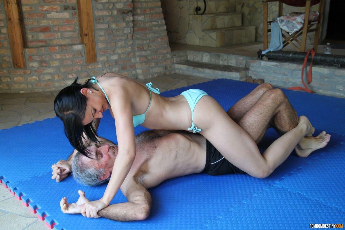 Femdom wrestling real man vs woman match 3