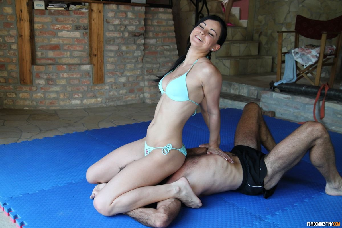 Female wrestle domination