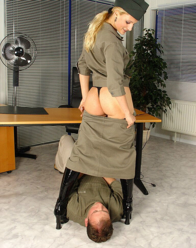 Mistress In Uniform Facesitting