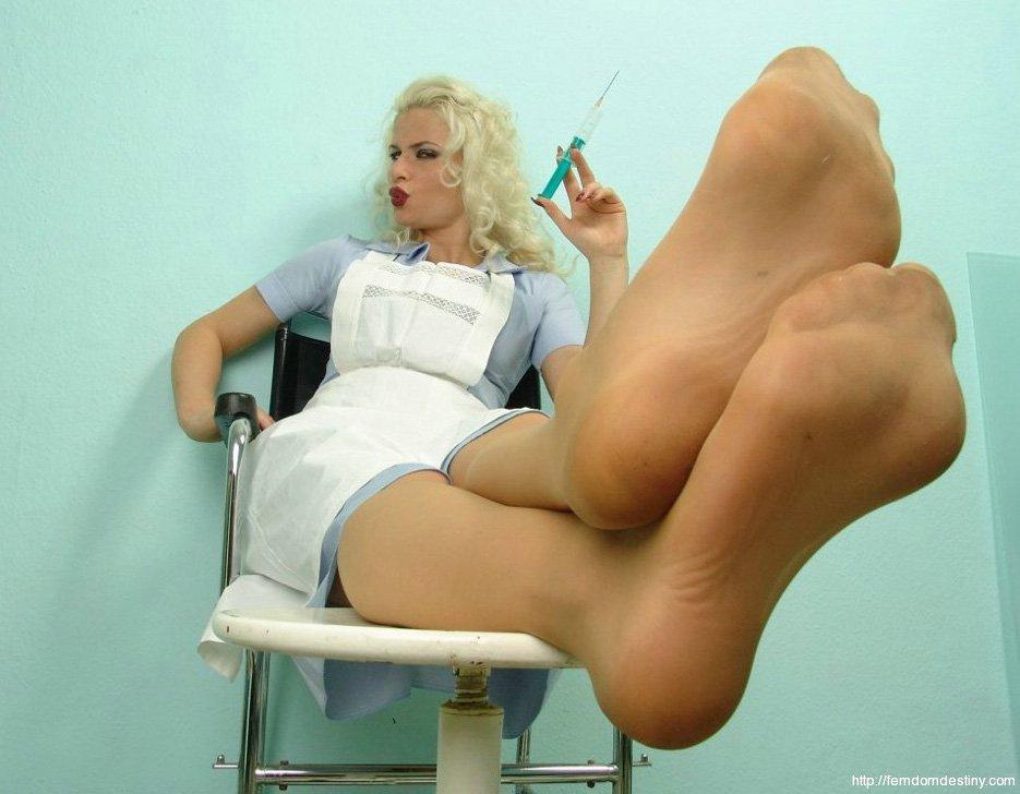 Nurse femdom strapon