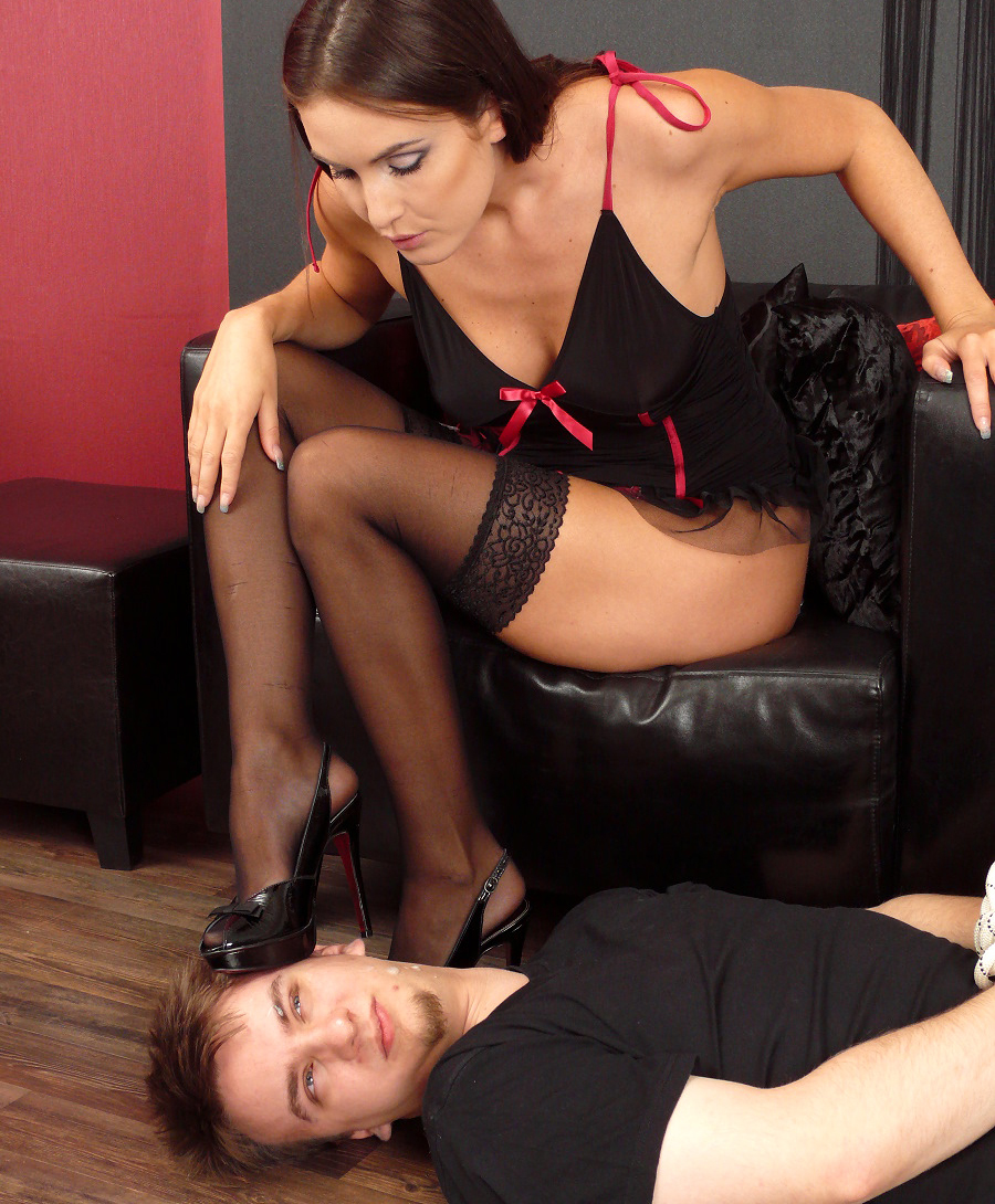 Spitting mistress into slaves face