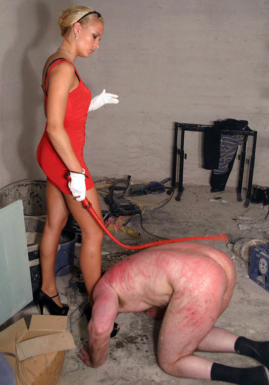 Young slave using strapon on lesbian mistress 9