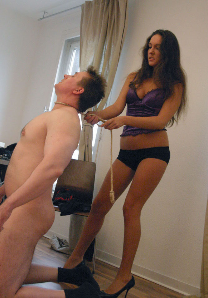 2 young mistress humiliate 4 grown up slaves femdom 6
