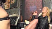 Mistress Athena Smoking