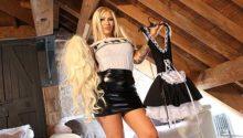 Mistress teasing sissy slave