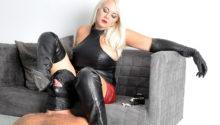 Leather boots Dominatrix