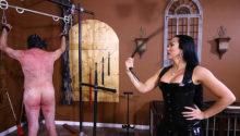 Femdom whipping Mistress