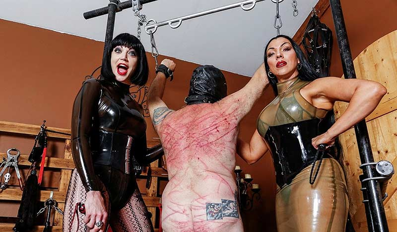 brutal whipping punishment by two mature fem dom ladies