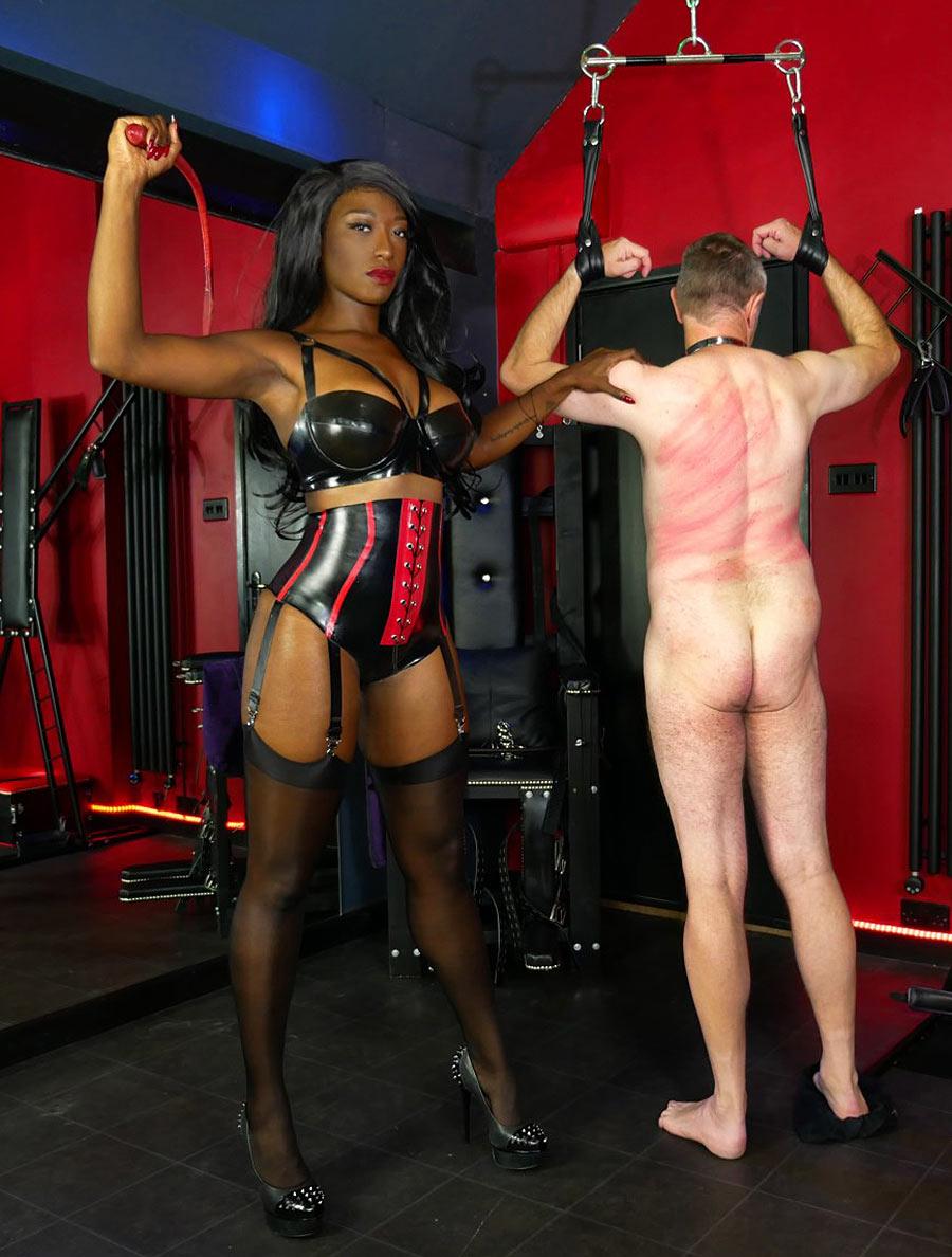 black femdom whipping