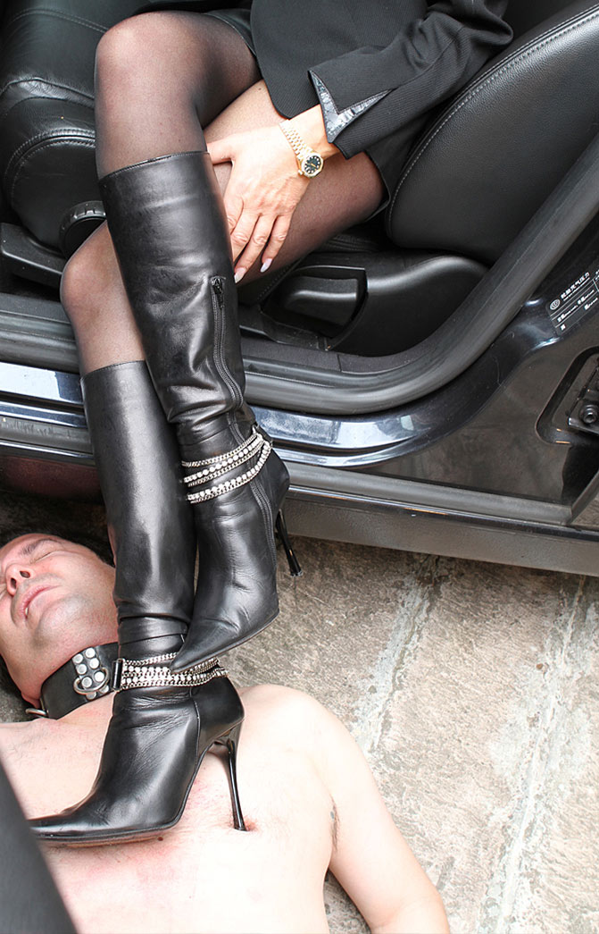 leather boots fetish