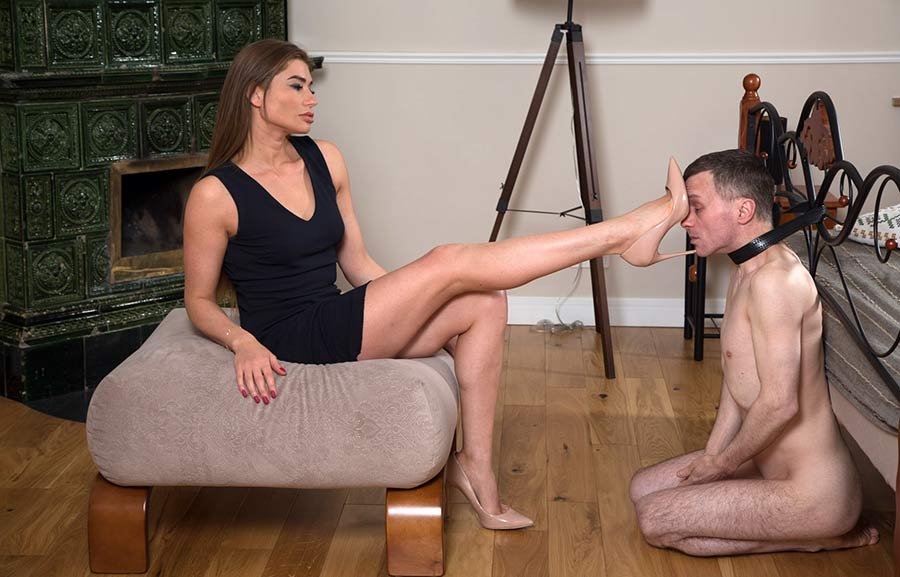 slave licking shoe soles