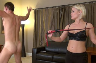 blonde goddess whipping slave