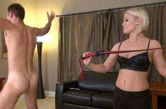 blonde goddess whipping slave