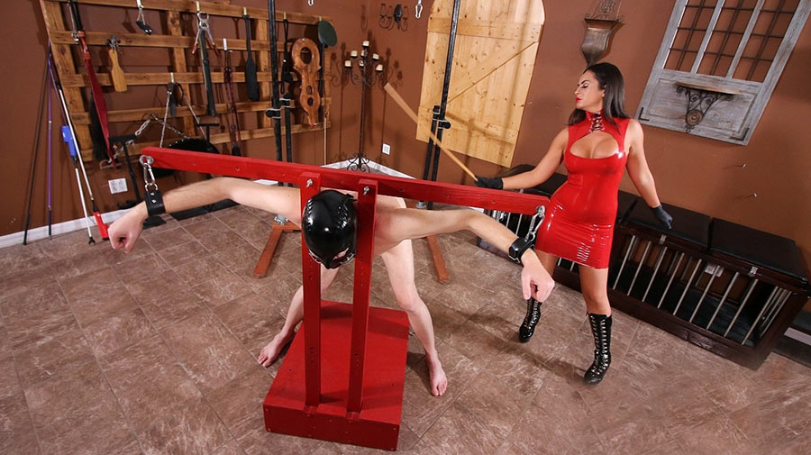 severe femdom caning