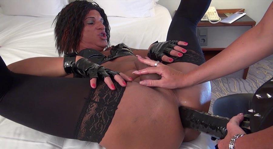 sissy slave strap on