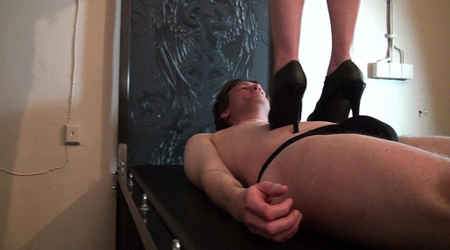 high heels trampling torture